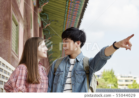 커플,연애,데이트,여행,관광,한옥,한국전통,경복궁,종로구,서울 55044029