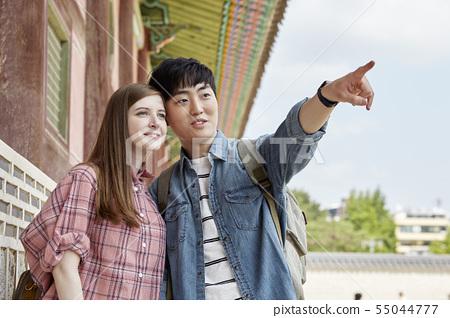커플,연애,데이트,여행,관광,한옥,한국전통,경복궁,종로구,서울 55044777