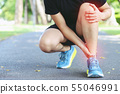 Runner touching painful twisted 55046991