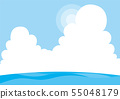 여름 해수욕장 [배경] [배경 화면] 55048179