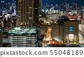 Night view of Osaka 55048189