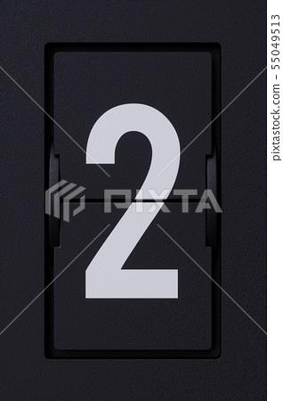 Airport mechanical flip board panel digits font 2 55049513