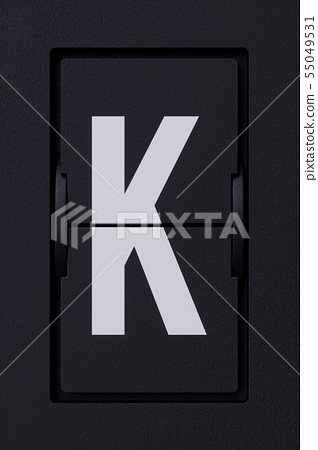 Airport mechanical flip board panel character font 55049531