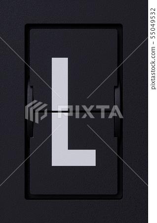 Airport mechanical flip board panel character font 55049532