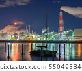Factory night scene Yokkaichi Mie Prefecture 55049884
