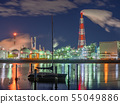 Factory night scene Yokkaichi Mie Prefecture 55049886