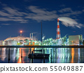 Factory night scene Yokkaichi Mie Prefecture 55049887