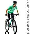 Bicycle, Cyclist, Man 55050567