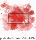 splash watercolor background, used for banner, 55054897