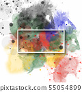 splash watercolor background, used for banner, 55054899