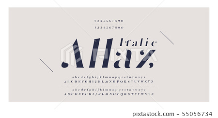 Elegant awesome alphabet letters italic font and 55056734