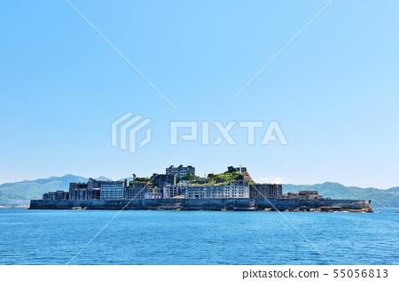 Nagasaki prefecture blue sky warship island 55056813