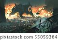 the creature machine invading city 55059364