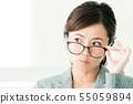 여성 비즈니스 사무실 사업가 55059894