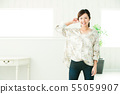 Woman young woman portrait cute casual 55059907