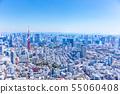 东京铁塔和东京的街道 55060408