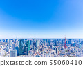 东京铁塔和东京的街道 55060410
