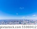 新宿在蓝天下,往Jingu的都市风景 55060412