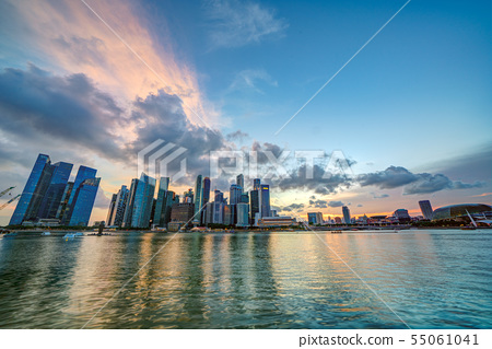 新加坡日落HDR圖像 55061041