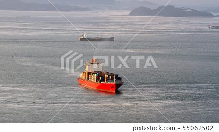 集裝箱船航行海 55062502