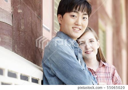 커플,연애,데이트,여행,관광,한옥,한국전통,경복궁,종로구,서울 55065020