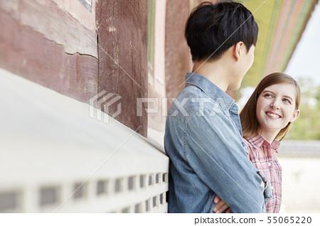 커플,연애,데이트,여행,관광,한옥,한국전통,경복궁,종로구,서울 55065220