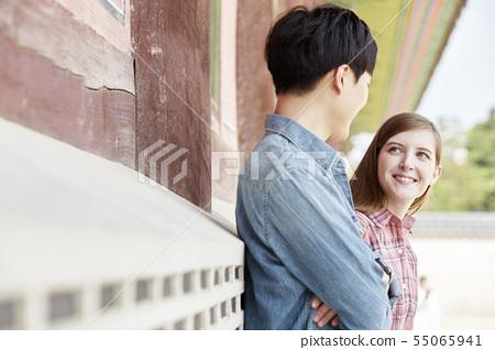 커플,연애,데이트,여행,관광,한옥,한국전통,경복궁,종로구,서울 55065941