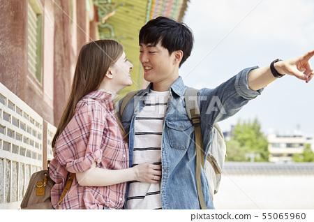 커플,연애,데이트,여행,관광,한옥,한국전통,경복궁,종로구,서울 55065960