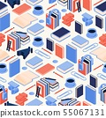 Seamless isometric pattern books and 3d letters 55067131