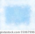 Frozen texture with white frosty frame, snowflake. 55067996