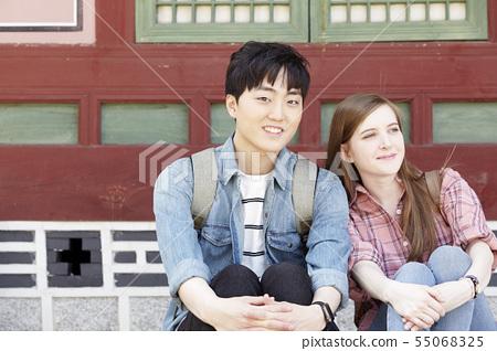 커플,연애,데이트,여행,관광,한옥,한국전통,경복궁,종로구,서울 55068325