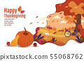 Happy Thanksgiving, Autumn, Banner Design 55068762
