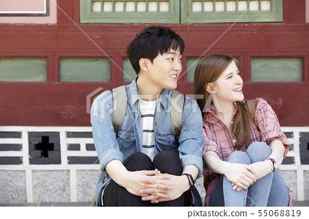 커플,연애,데이트,여행,관광,한옥,한국전통,경복궁,종로구,서울 55068819
