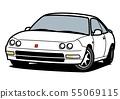 怀乡国内小轿车白色汽车例证 55069115