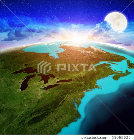 New England and Canada sunrise 55069623