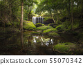 Close up view waterfall in deep forest. 55070342