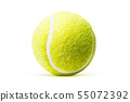 Tennis ball isolated in white background 55072392