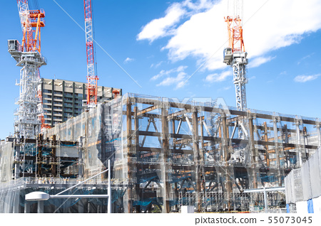 아파트 · 빌딩의 건설 현장 55073045