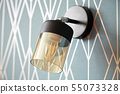 switched off stylish wall light, bedside lamp 55073328