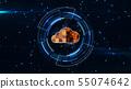 cloud network concept. 55074642