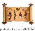 Ancient Egypt papyrus scroll cartoon vector 55074667