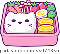 Cute cartoon bento box 55074856