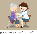 doctor helps check grandmother 55075716