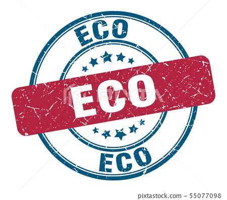 eco stamp. eco round grunge sign. eco 55077098