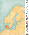 Map of Scandinavia - Denmark 55077233