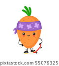 Cute happy smiling skater carrot character 55079325