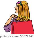 woman Shopaholic sale 55079341