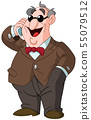 man with bow tie speaking on phone 55079512