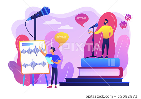 Voice and speech training concept vector illustration 55082873