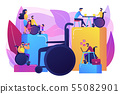 Social adaptation of disabled people concept vector illustration 55082901